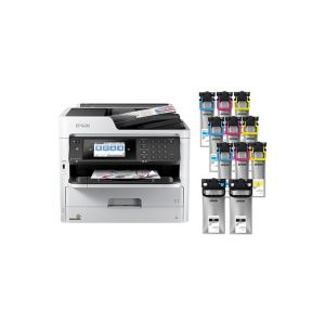 WorkForce Pro WF-C5790 Color MFP Supertank Printer, LARGE BUNDLE *** with up to 2 years of ink in the box ***