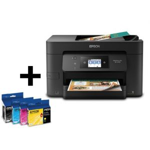 Epson WorkForce Pro WF-3720 All-in-One Printer With Extra Epson 702XL High-Yield Black, Cyan, Magenta, Yellow Ink cartridges Pack